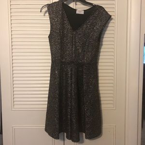Dresses & Skirts - Black and gold sparkle fit and flare dress